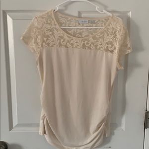 Off white blouse with lace